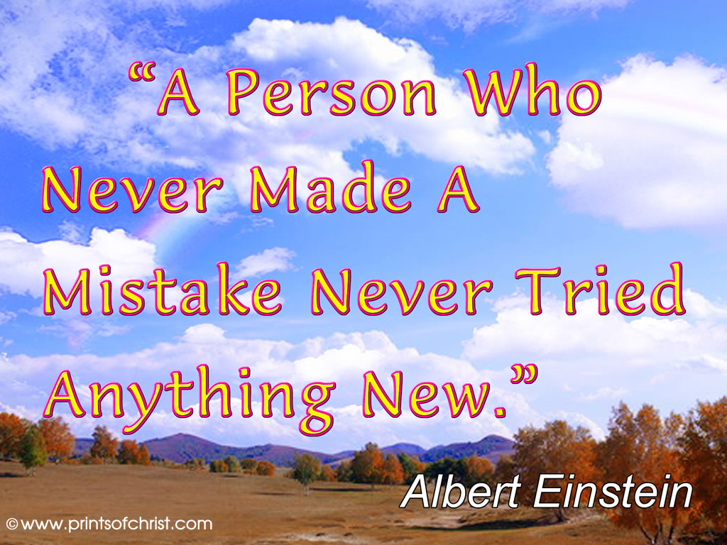 Einstein on Mistakes
