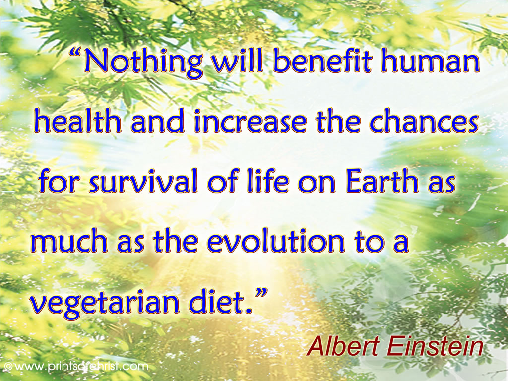 Einstein on being a vegiterian