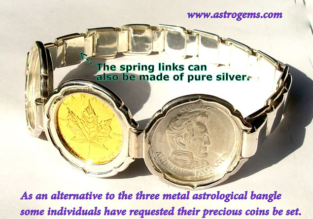 bangle of fine metal coins