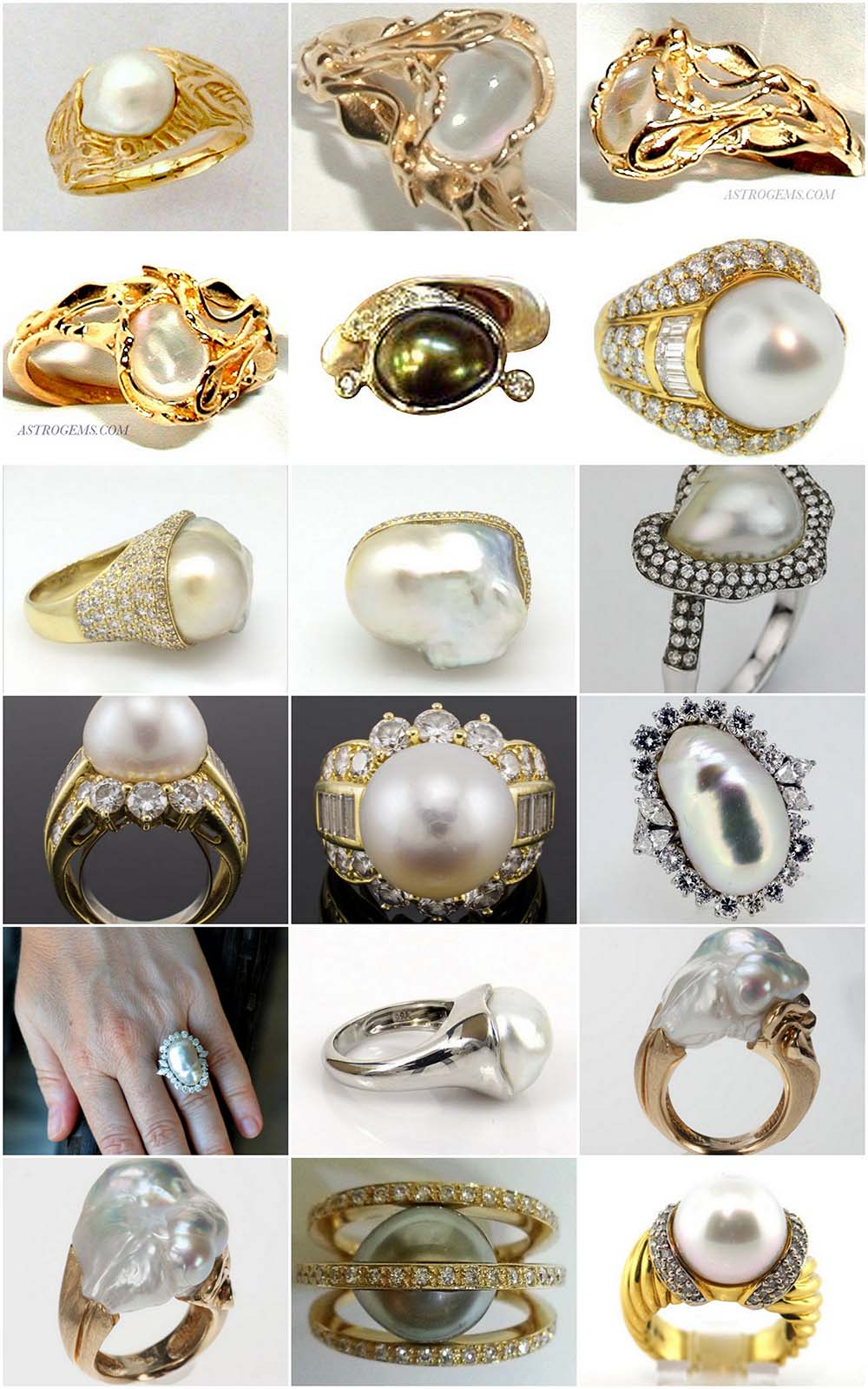 Astrogems can make astrological pearl rings in any style.