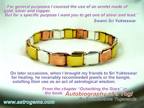 Astrological Bangle as recommended by Swami Sri Yukteswar from Autobiography of a Yogi