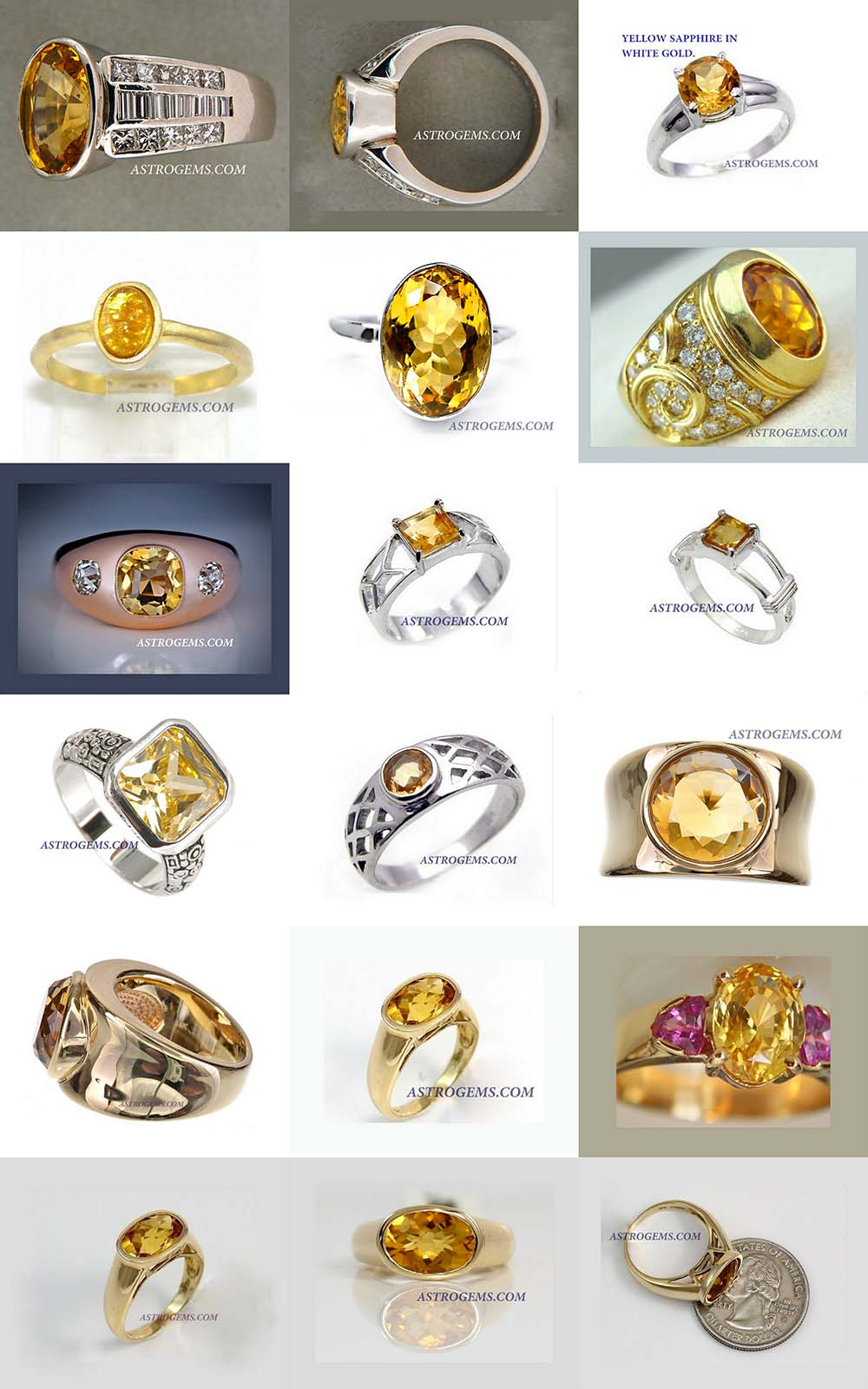 Astrogems can make ayurvedic Yellow Sapphire rings in any style.
