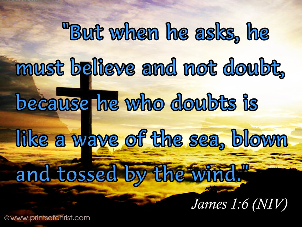 James 1:6 NIV Background