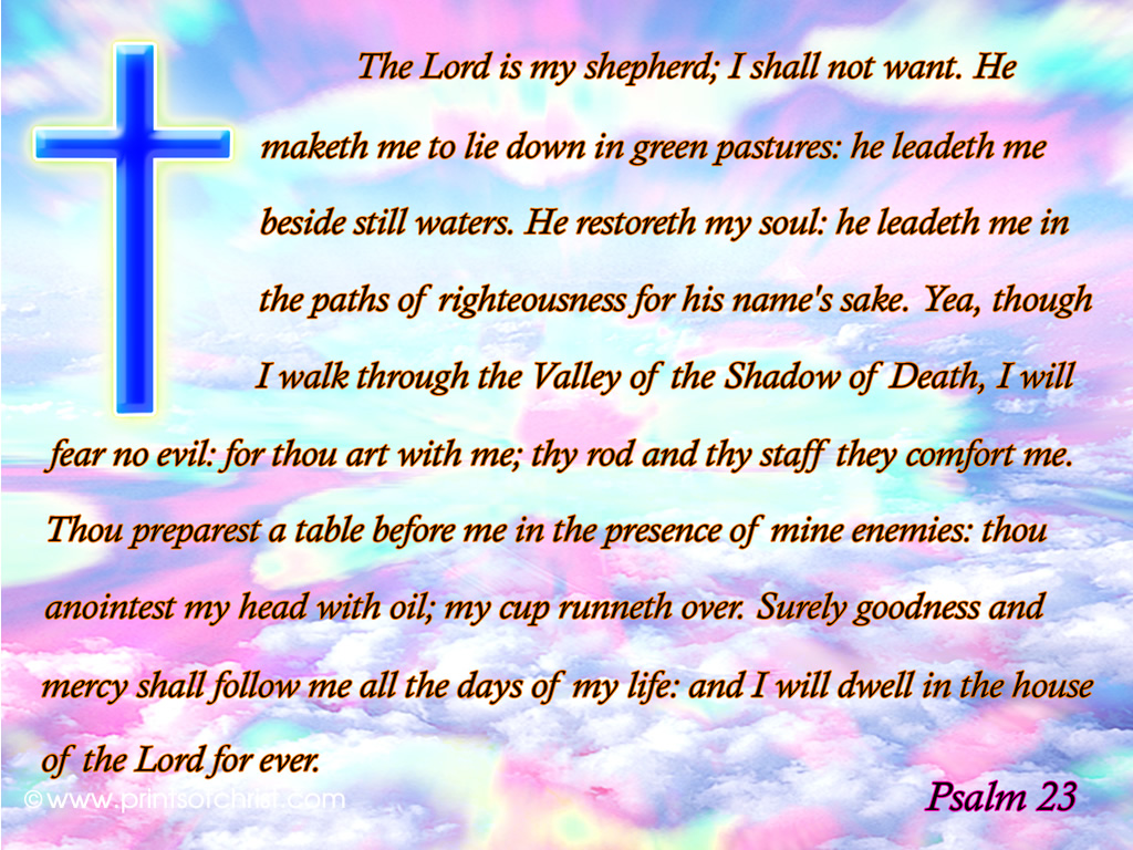 Bible quotes 23 psalm