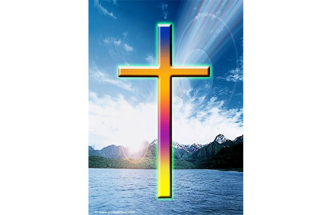 cross on water image