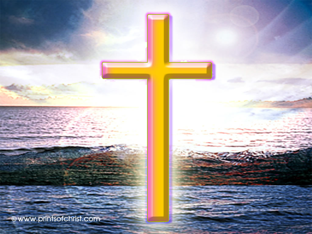cross on the water image