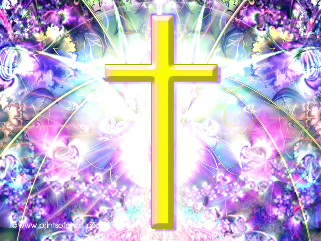 cross yellow background