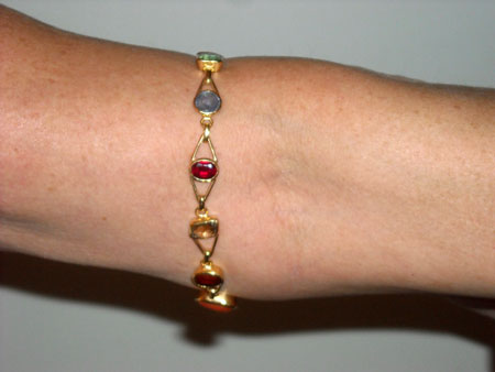 chakra design crystal healing bangle