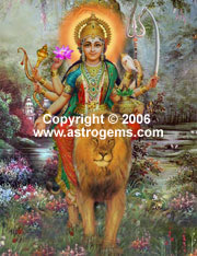 Oil painting of Lakshmi goddess