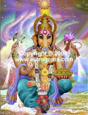 Oil painting of Ganesha