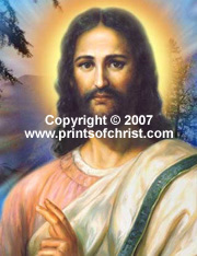 Oil painting of Jesus