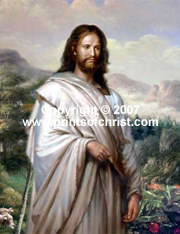 Print of canvas of Jesus
