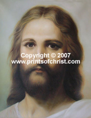 Oil painting of Jesus Christ