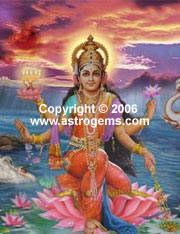Photographs of Lakshmi goddess