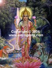 Oil painting of Lakshmi goddess