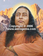 Oil painting of Paramahansa Yogananda