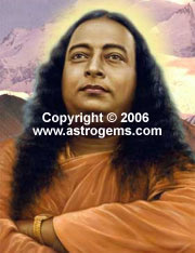 Canvas print of Yogananda