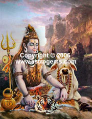 Oil painting of Shiva
