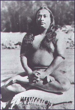 paramahansa yogananda meditating and wearing astrological bangles