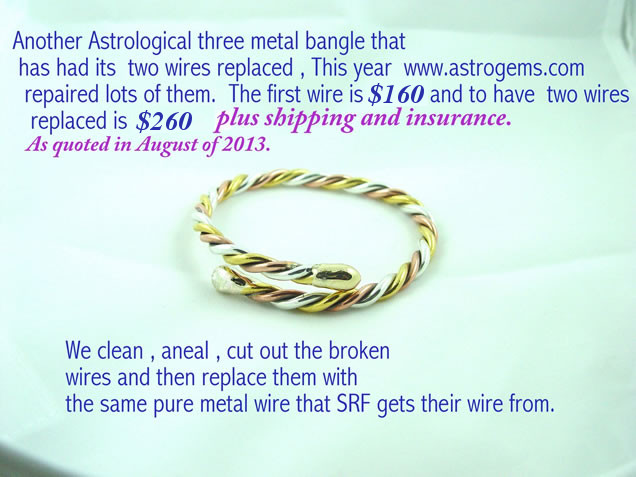 three metal bangle repaired