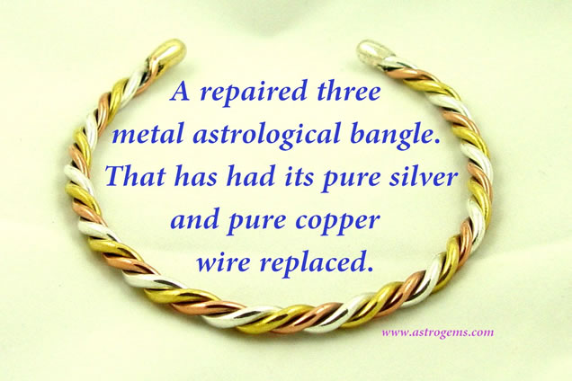 repaired Three Metal Bangle