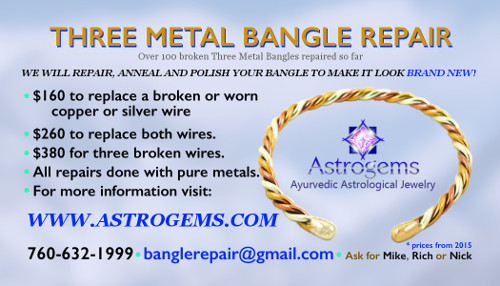 three metal bangle repair by Astrogems