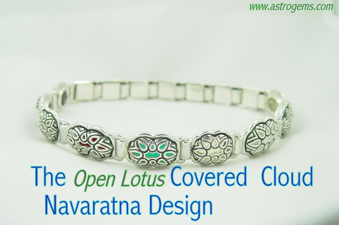 open lotus covered cloud design navaratna