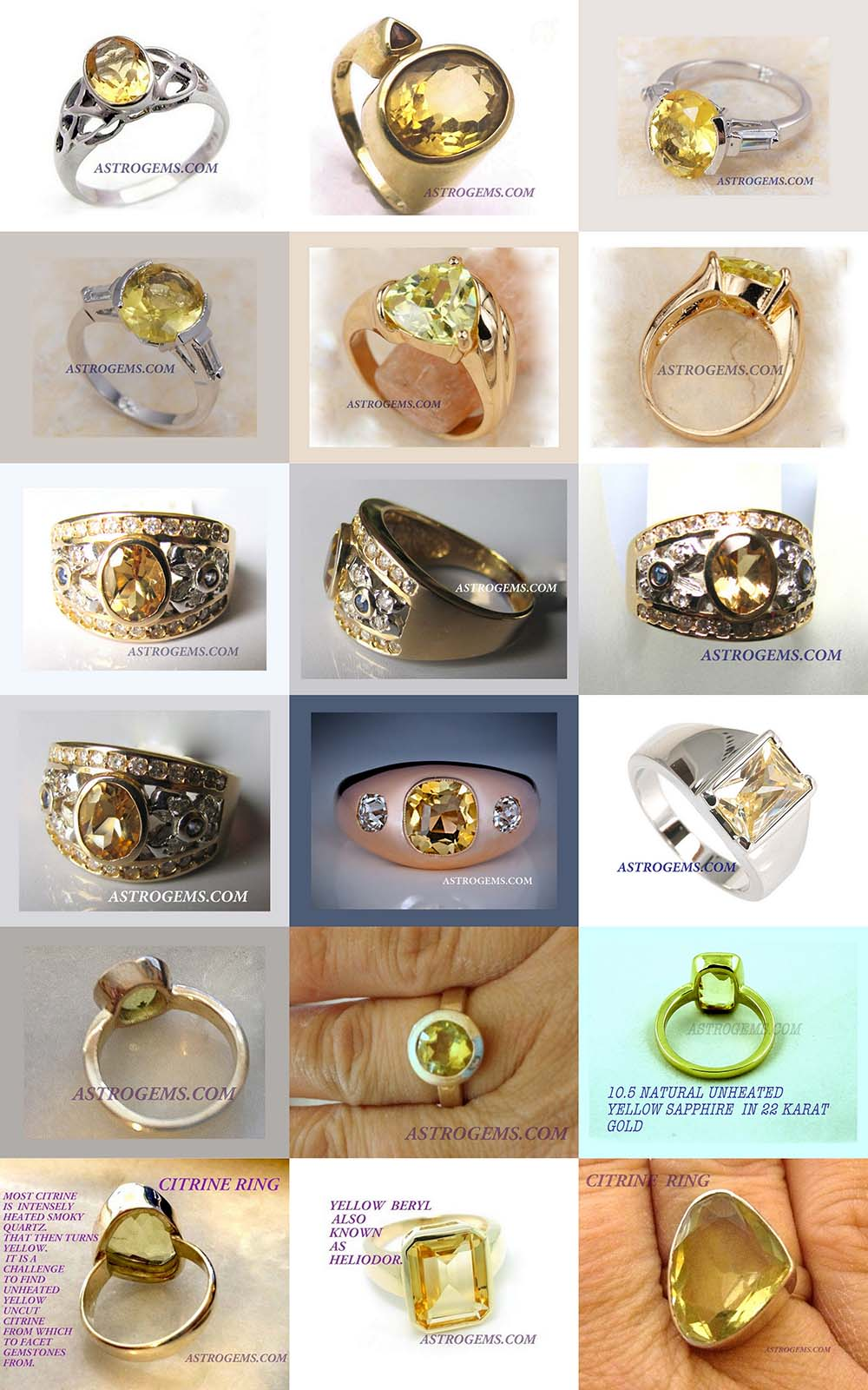 Astrogems can make custom astrological Yellow Sapphire rings.