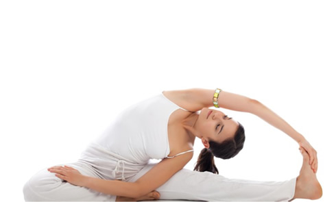 yoga woman with bangle