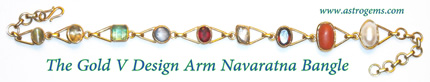 golf v design srm navaratna bangle