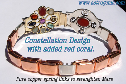 constellation design with added red coral