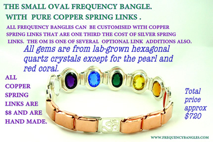 smal oval frequency bangle