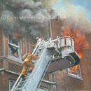 fire fighter paintings