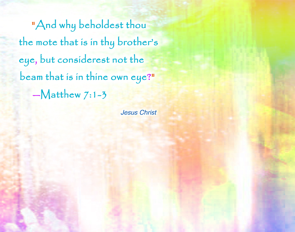 Jesus Christ Matthew 7:3 wallpaper
