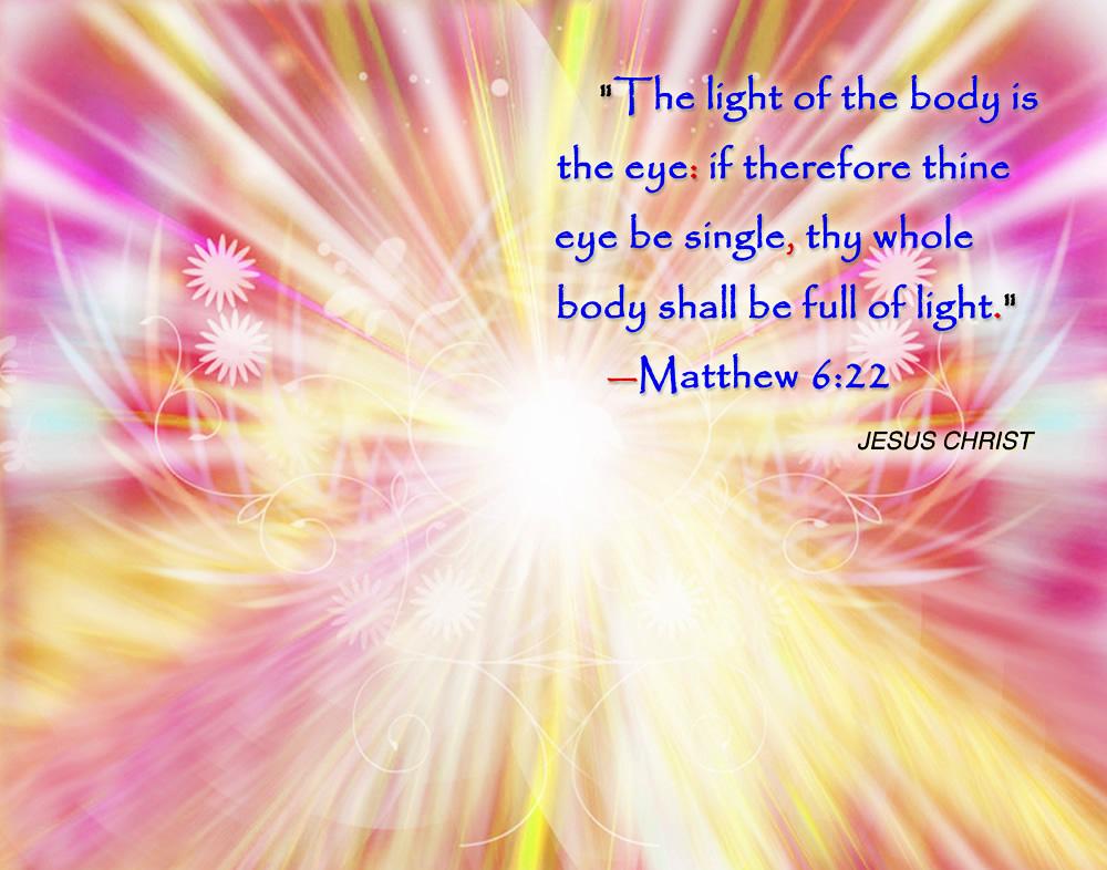 Jesus Christ Light Of The Body Wallpaper