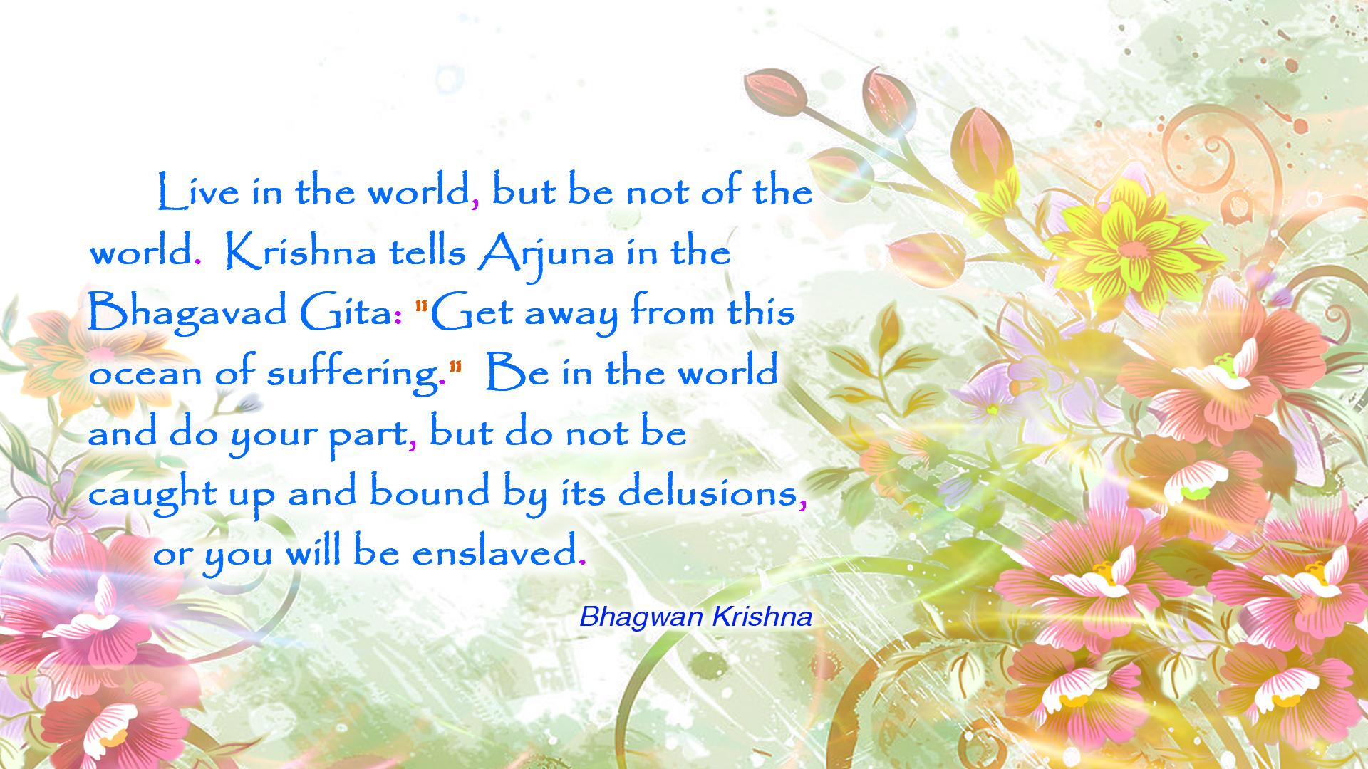 Lord Krishna Quotes Free Bhagavan Krishna Quotes Wallpaper