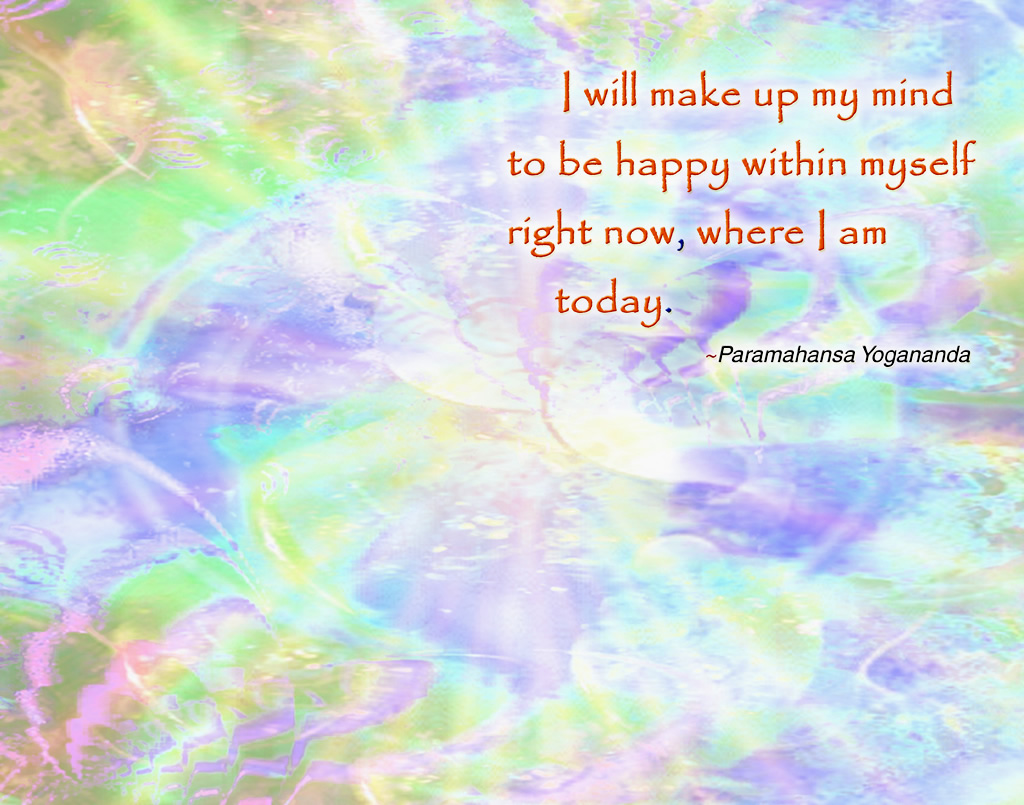 Yogananda happy within pastels wallpaper