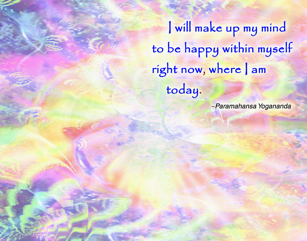 Yogananda happy within pink wallpaper