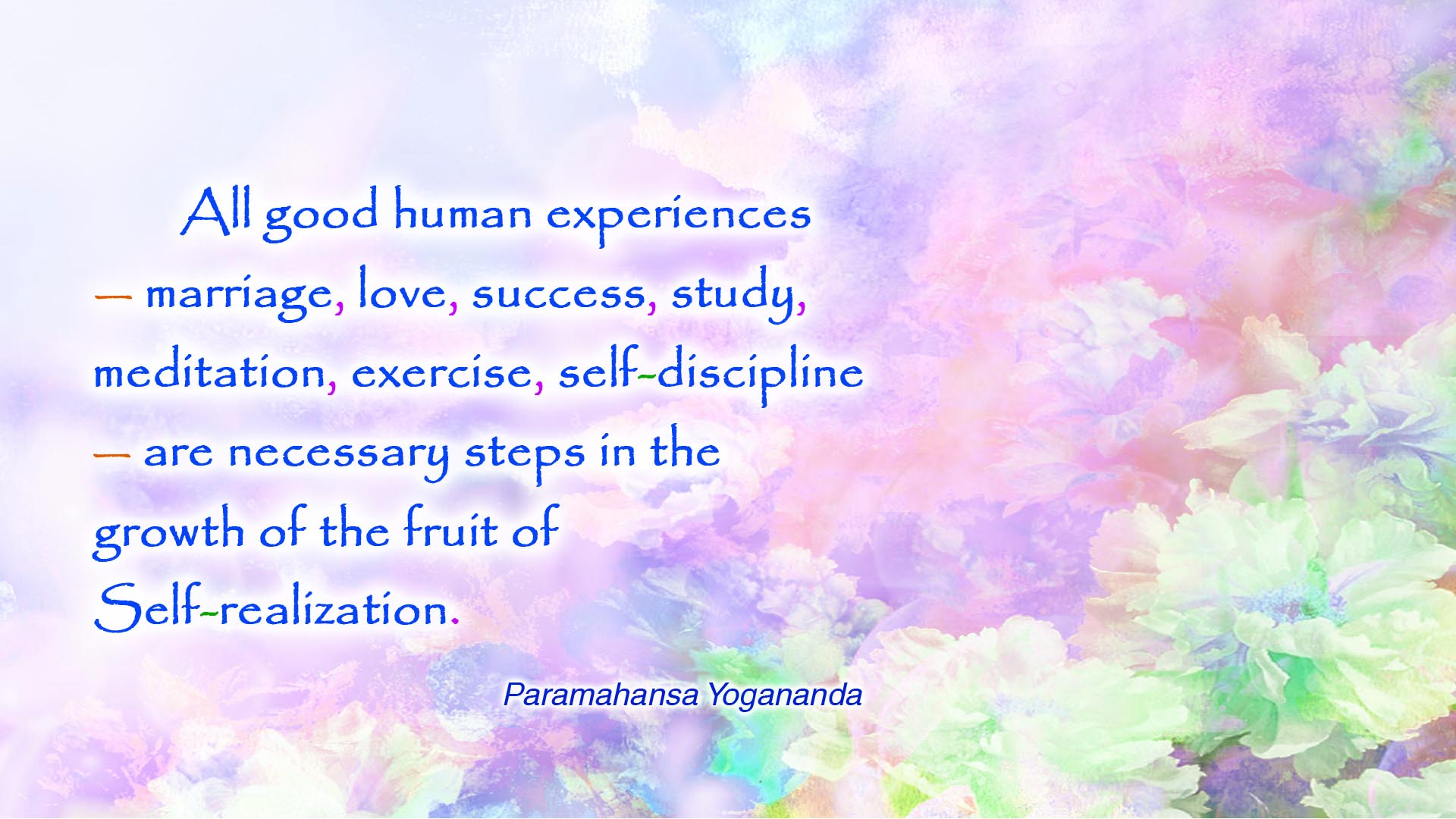 Yogananda human experiences wallpaper