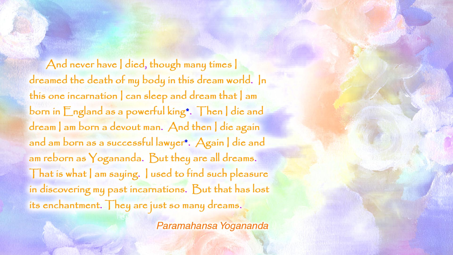 Yogananda dreams incarnations wallpaper