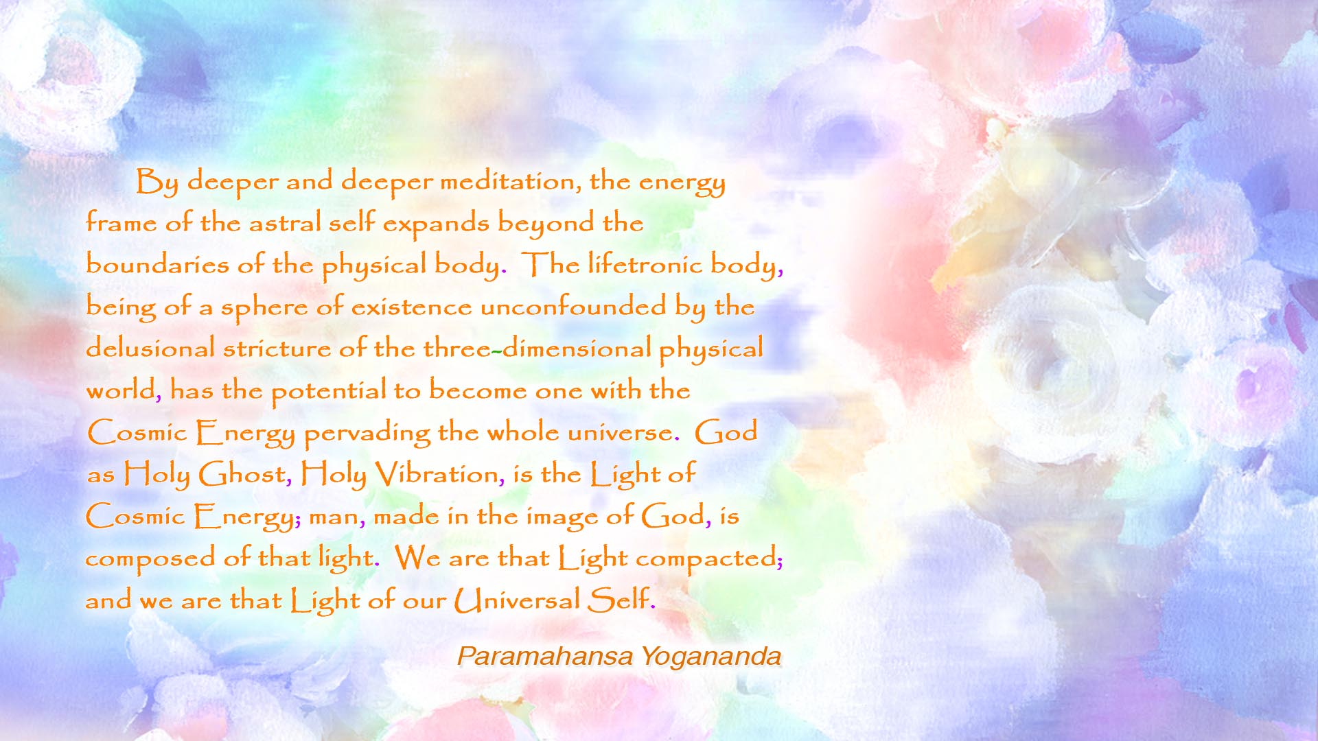 Yogananda Cosmic Energy wallpaper