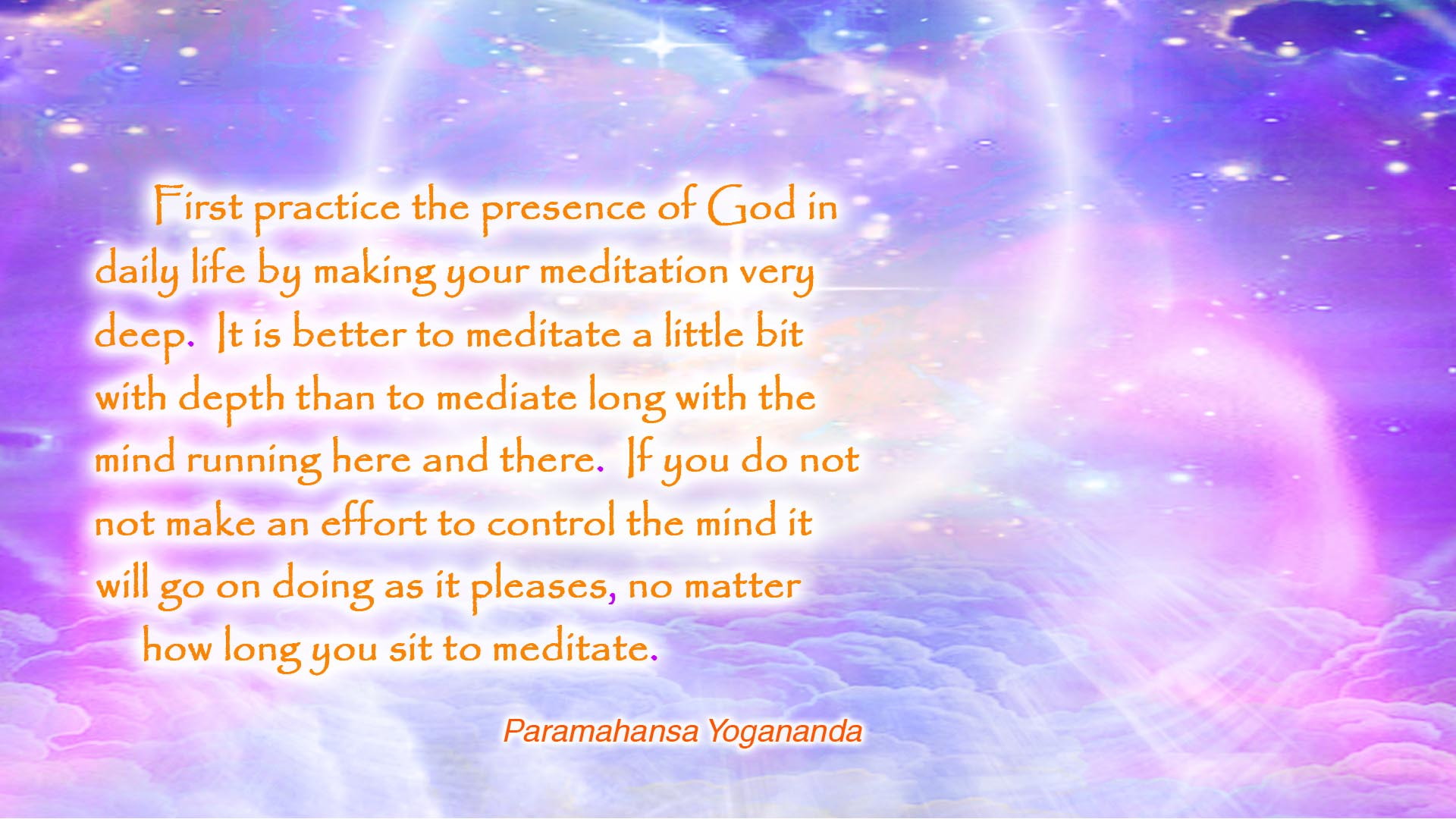 Yogananda deep meditation wallpaper