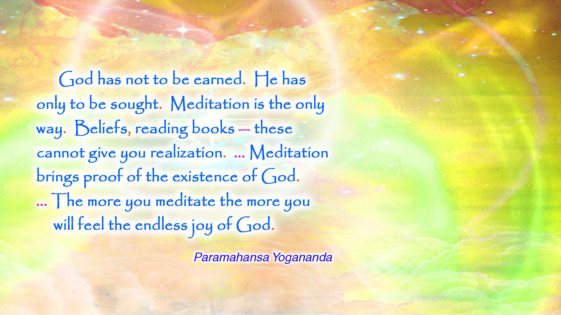 Yogananda seek God wallpaper
