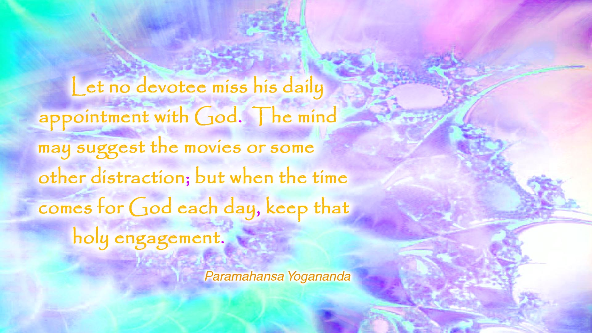 Yogananda daily with God wallpaper