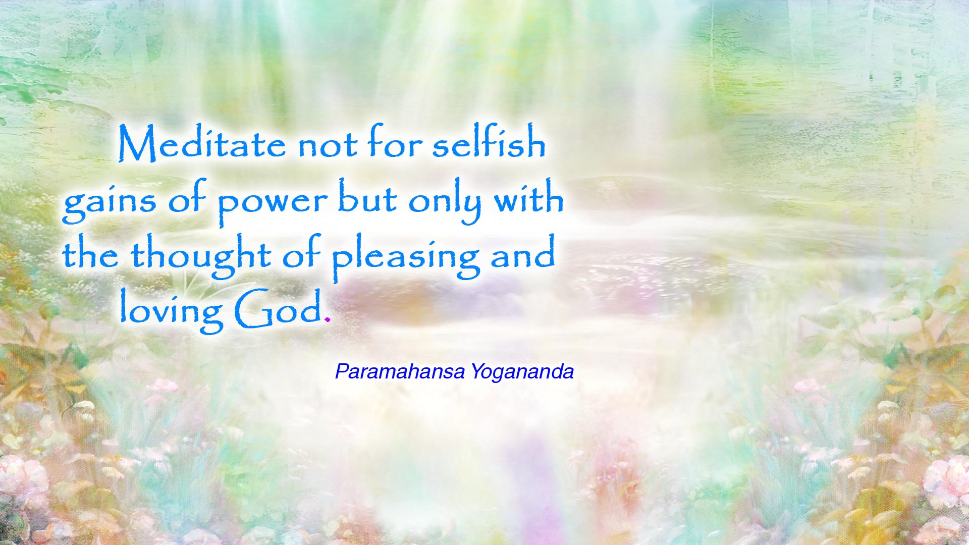 Yogananda meditate God wallpaper