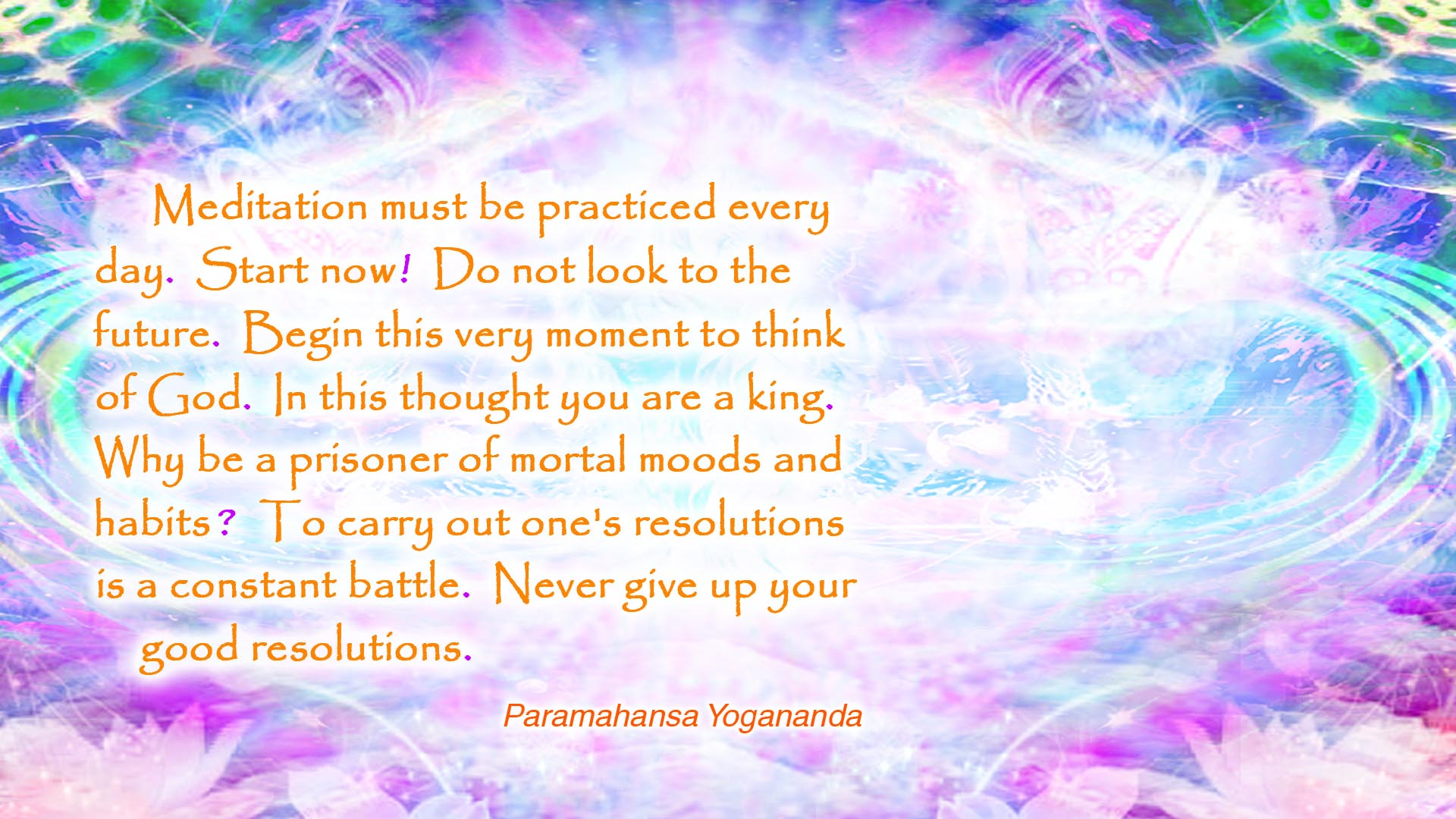 Yogananda start now wallpaper