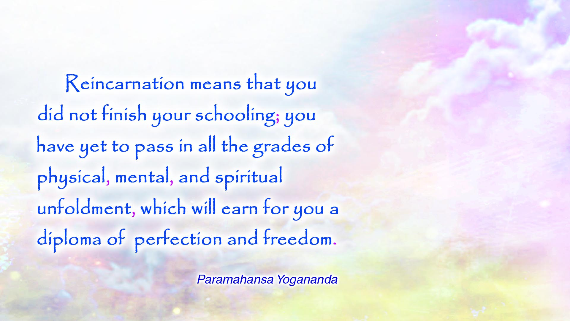 Yogananda diploma of perfection