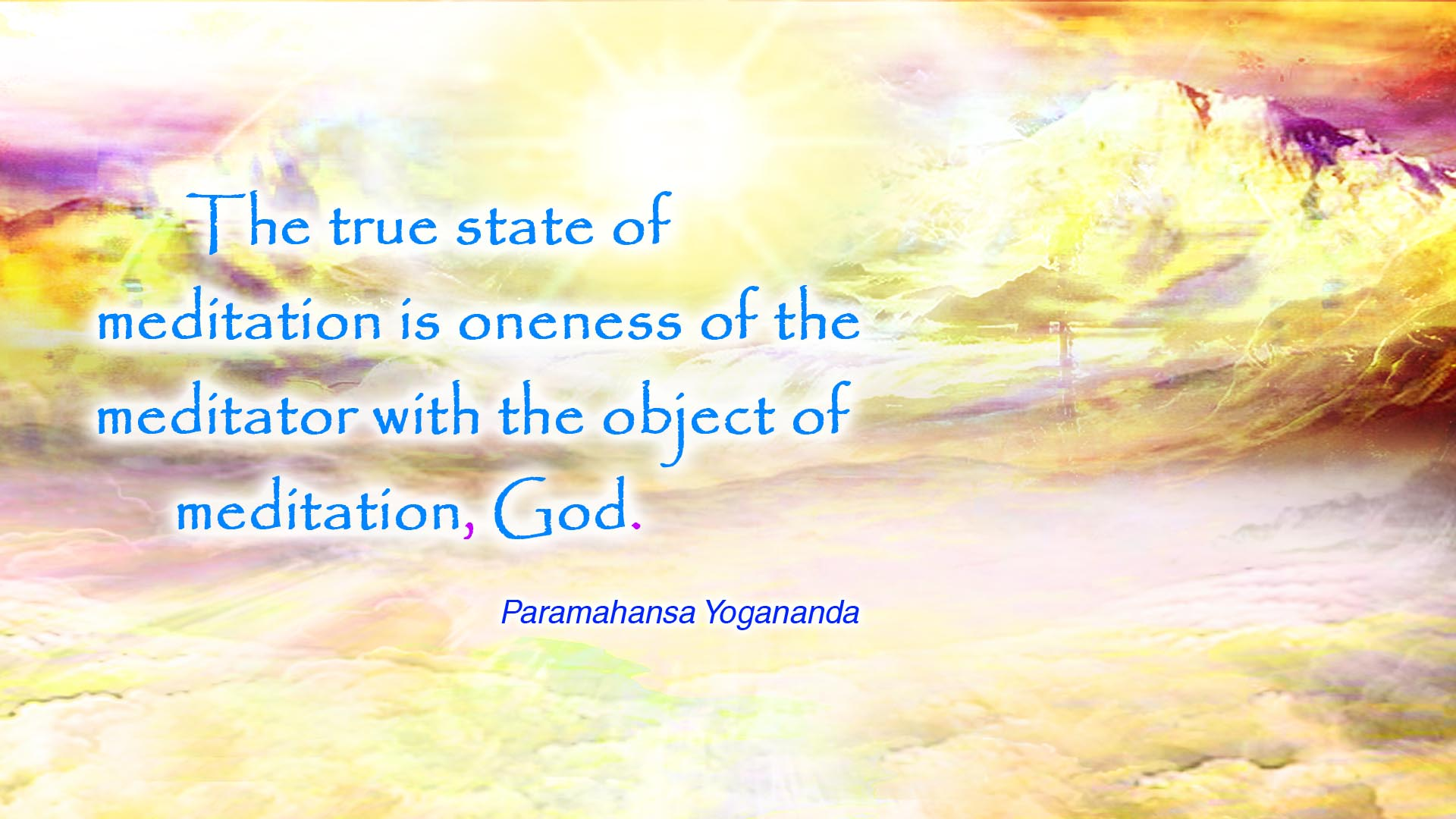 Yogananda true state wallpaper