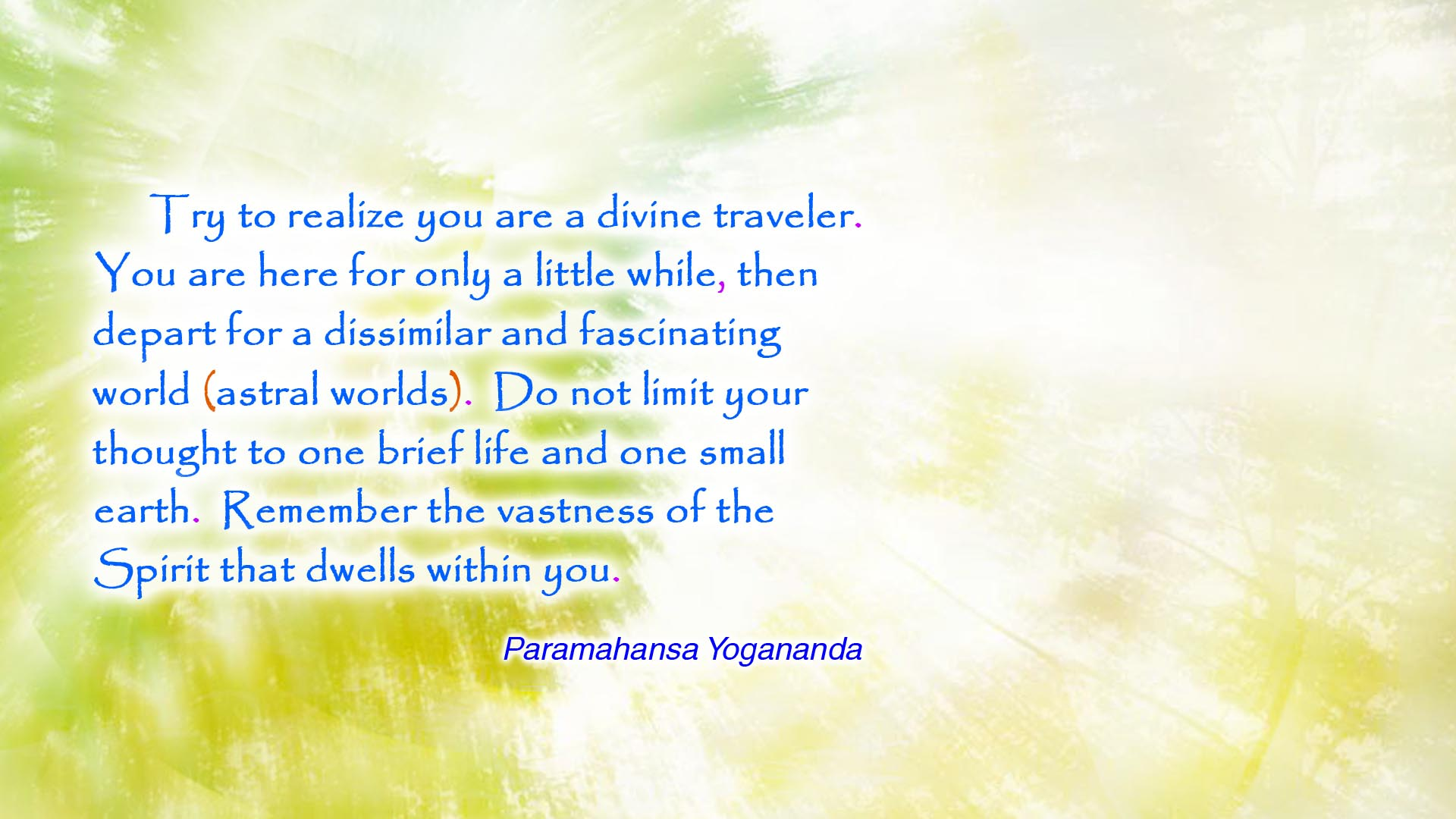 Yogananda divine traveler wallpaper