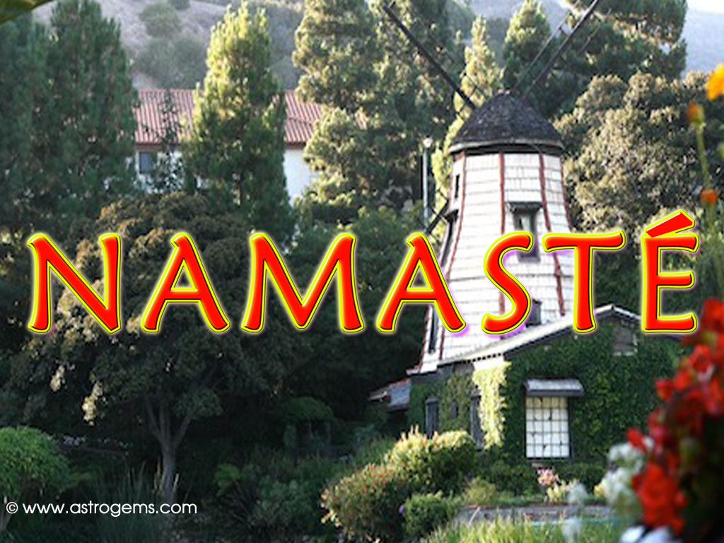 Namaste with lighthouse